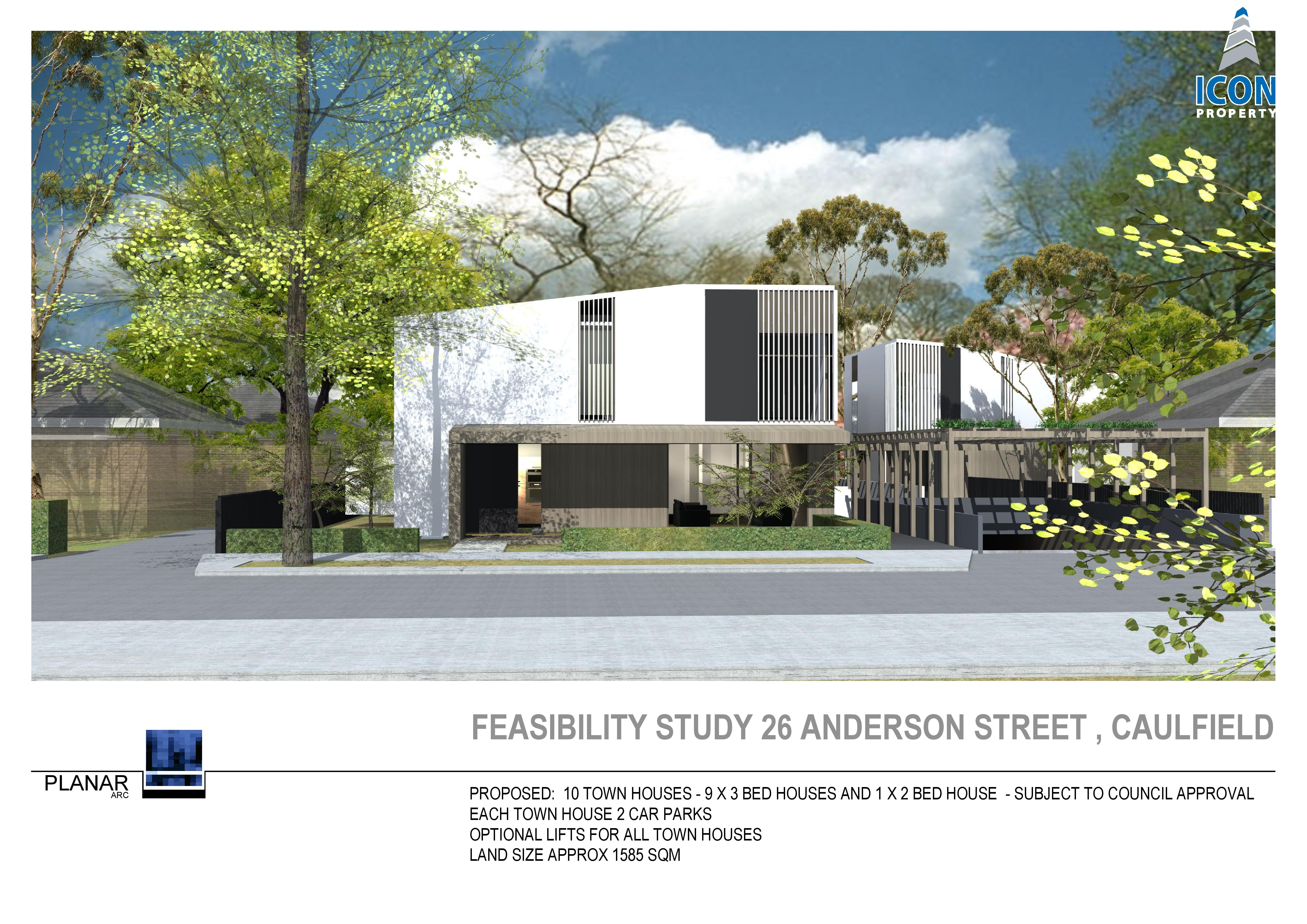 Town House Development Site – 26 Anderson St, Caulfield VIC 3164